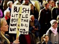 Anti-Bush demonstration, AP