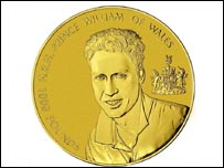 Prince William's �1,000 coin