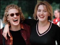 Jane Campion (left) with Kate Winslet