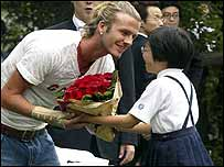 David Beckham and Japanese girl