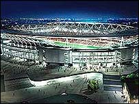 An artist's impression of the stadium at Ashburton Grove