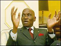 President Abdoulaye Wade of Senegal