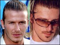 David Beckham (left) and Paul Mansley as David Beckham