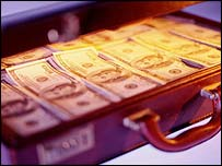 Suitcase full of cash, BBC/Corbis