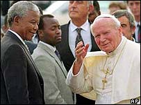 Nelson Mandela with John Paul II