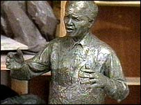 Scale version of the proposed Nelson Mandela statue