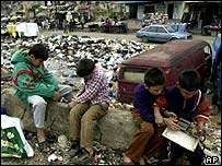 Palestinian children in Shatila refugee camp, Beirut