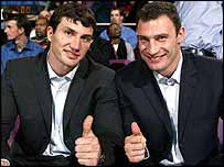 Heavyweight boxing contenders Wladimir Klitschko and Vitali Kliltschko
