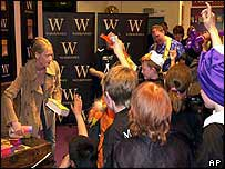 JK Rowling gave fans their copies at a bookshop in Edinburgh