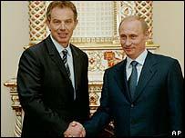 Prime Minister Tony Blair and President Vladimir Putin