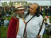 Revellers at Stonehenge for the solstice