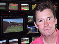 BBC TV's Wimbledon editor Paul Davies