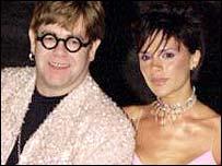Elton John and Victoria Beckham