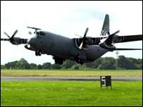 Hercules transport plane