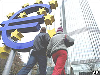 European Central Bank in Frankfurt, Germany