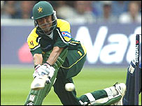 Younis Khan sweeps Ashley Giles