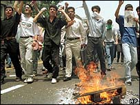 Students from Tehran University demonstrate