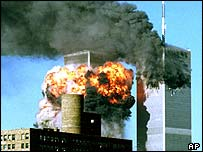 World Trade Center is struck on 11 September
