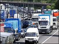 Congested motorway   PA