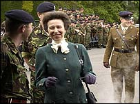 Princess Royal at Deepcut