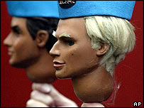 The heads of Thunderbirds puppets John, right, and Virgil Tracy