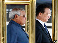 Indian Prime Minister Atal Behari Vajpayee & Chinese Premier Wen Jiabao