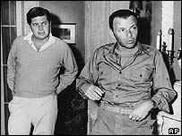 Axelrod (left) with Frank Sinatra