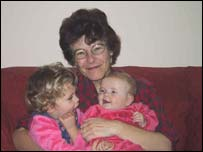 Catriona Waddington with daughters Sula and Rona Brookes