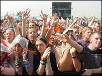 Reading Festival crowd, BBC
