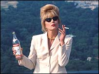 Joanna Lumley as Patsy Stone in the BBC's Absolutely Fabulous