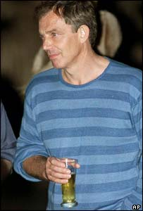 Tony Blair Enjoying Some Freedom