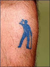 Seve Ballesteros's tattoo