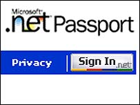 Screen grab of Passport website, Microsoft