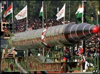 Indian Agni II missile