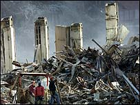 Aftermath of the Twin Towers attack