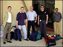 The BBC team: (l-r) Stephen King, Jerry Timmin, Roger Francis, Rob Todd, Mario Almeida
