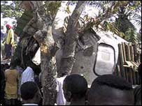 Air crash in Bangui, Central African Republic 2002