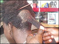 Maasai hair stylist
