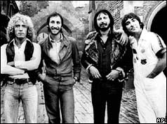 From left: Roger Daltrey, Pete Townshend, John Entwistle and Keith Moon