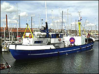 The Langenort had not received permission to dock and could still be asked to leave