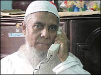 Mohammed Ismail after his telephone was installed