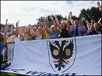 Fans of AFC Wimbledon