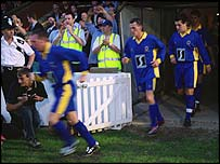 AFC Wimbledon take to the pitch