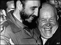 Fidel Castro and Nikita Khrushchev in 1960