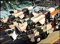 India's Prithvi missiles