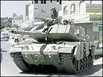 Tank in Hebron