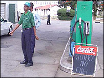 A petrol station in Harare