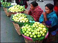 Khasi women in a local market