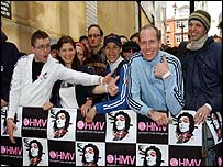 Queue outside HMV
