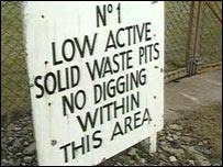 Dounreay warning sign
